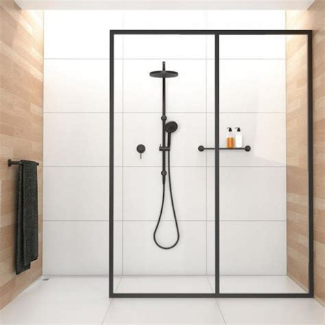 Black In The Shower by Buy The Matte Black Showering Set At The Blue Space