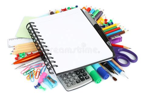 printable stationery items stationery items stock image image of diary lesson