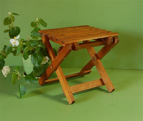 Small Wood Folding Table Vintage Small Wooden Folding Table Mini Folding Plant Stand