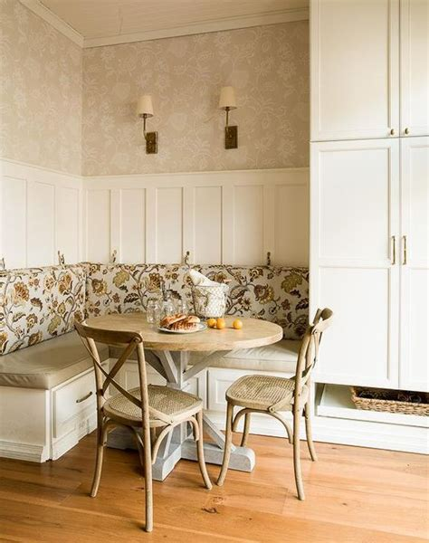 breakfast banquette ideas cottage breakfast nook features an l shaped built in