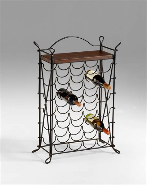 cassina wrought iron looped feet raw steel iron wine rack