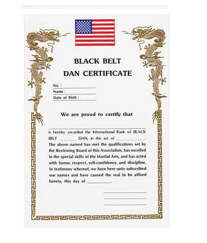 karate black belt certificate templates black belt dan certificate academy of karate martial