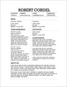Resume Templates For Free by 12 Resume Templates For Microsoft Word Free Primer