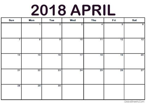printable calendar select dates april 2018 calendar print out