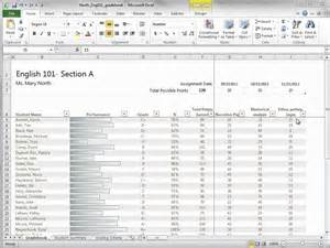 excel gradebook template and start using an excel 2010 gradebook template