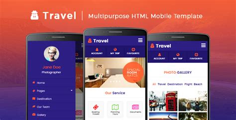 html mobile website templates from themeforest 21 best