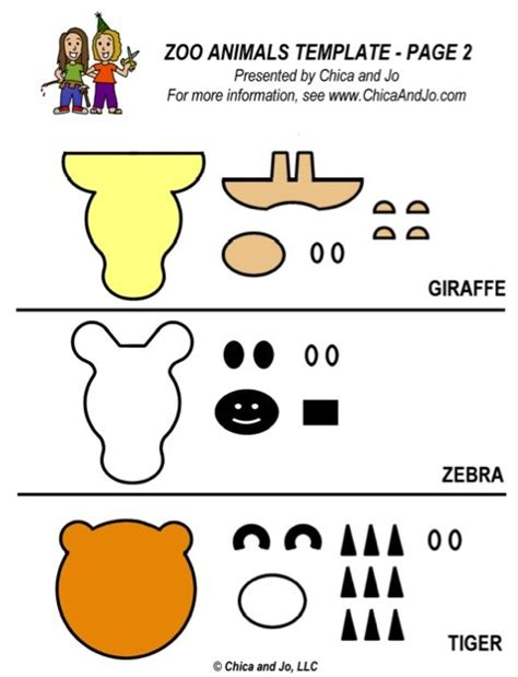 templates for zoo animals zoo animal fondant template 2 zoo circus pinterest