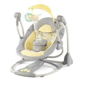 smart swing bright starts ingenuity smart quiet portable swing