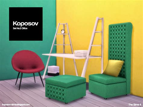 sims 4 set cc koposov objects for the sims set no 2 office for the