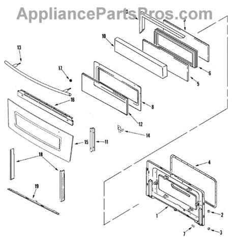 jenn air oven parts diagram parts for jenn air jdr8895aaw door parts