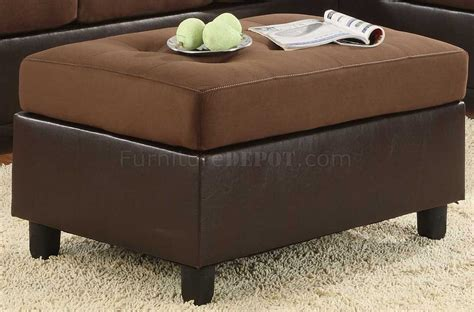 chocolate brown microfiber ottoman 9909ch comfort sectional sofa in chocolate microfiber by
