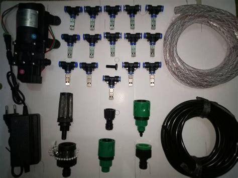 Paket Set Mist Nozzle Kabut 15 Meter Lengkap Dengan Pompa Filter Dan jual paket set mist nozzle kabut slip lock 02mm 15 meter