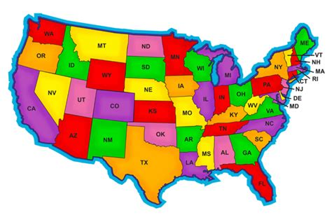 america map in color reciprocity transferring your cna license to another