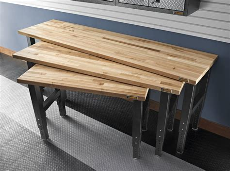 adjustable bench feet gladiator gawb08mtzg 8 feet adjustable height maple work bench workbenches amazon com