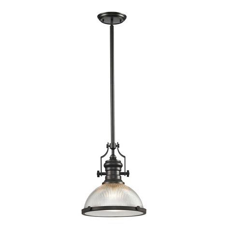 Union Lighting Pendants Titan Lighting Union Collection 1 Light Rubbed Bronze Pendant Tn 39104 The Home Depot