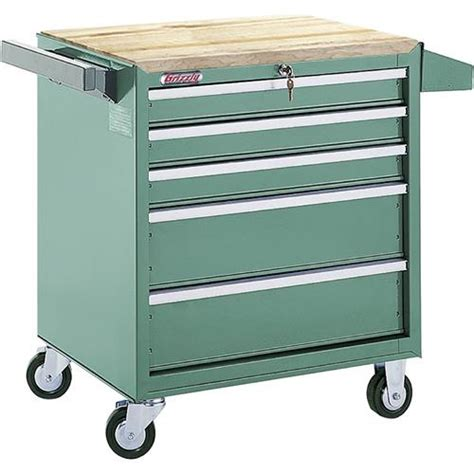Rolling Drawer Slides H0840 Grizzly 5 Drawer Roll Cabinet W Bearing Slides