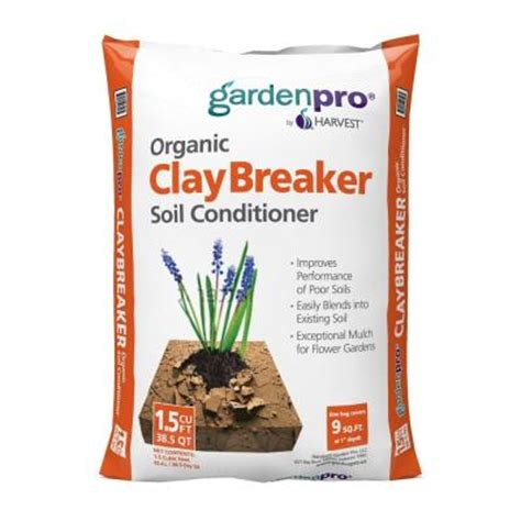 garden pro 2 cu ft claybreaker soil conditioner clay2g