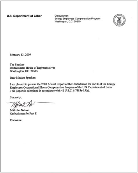 Proof Of Non Employment Letter U S Department Of Labor 2008 Fourth Annual Report Office Of The Ombudsman Eeombd Table