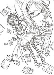 black butler chibi coloring pages sketch template