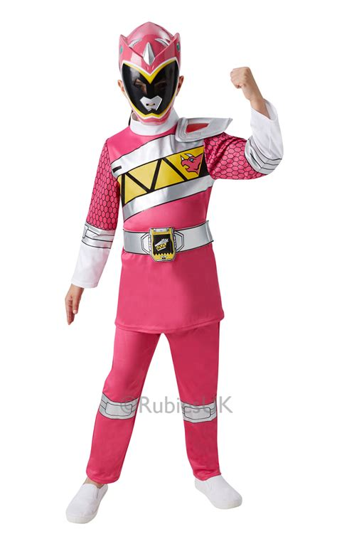 Geos Pro Pink Dino deluxe pink power ranger dino charge costume tv book and costumes mega fancy dress