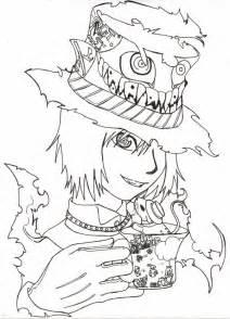 manga drawing mad hatter coloring color luna