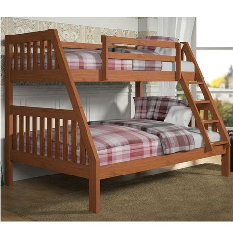 Mission Bunk Beds Mission Bunk Bed In Cinnamon Wax Finish