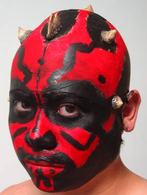 darth maul face paint template image collections