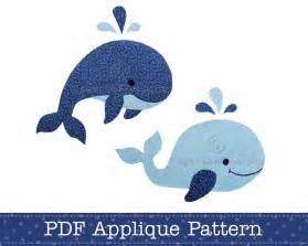Applique Templates by Whales Applique Template Pdf Pattern Includes Jumping Whale