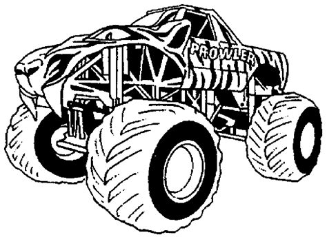 bigfoot monster truck coloring page monster truck transport coloriages 224 imprimer