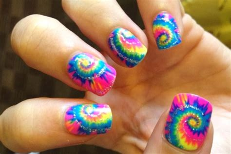 colorful nail 35 stylish spiral nail designs