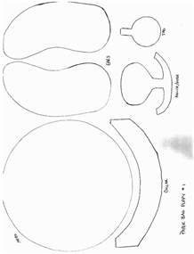 paper plate puppets templates paper bag puppet