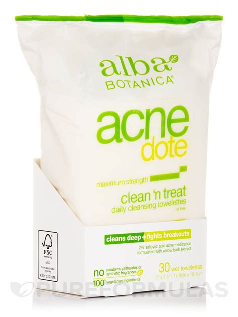 Alba Hawaiian Detox Towelettes Review by Acnedote Clean N Treat Cleansing Towelettes 30