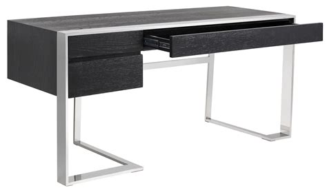 modern black desk with drawers dalton black 3 desk 100860 sunpan modern home