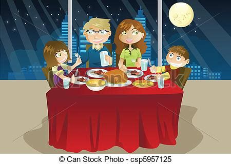 clipart cena clipart vectorial de cena comida familia a vector