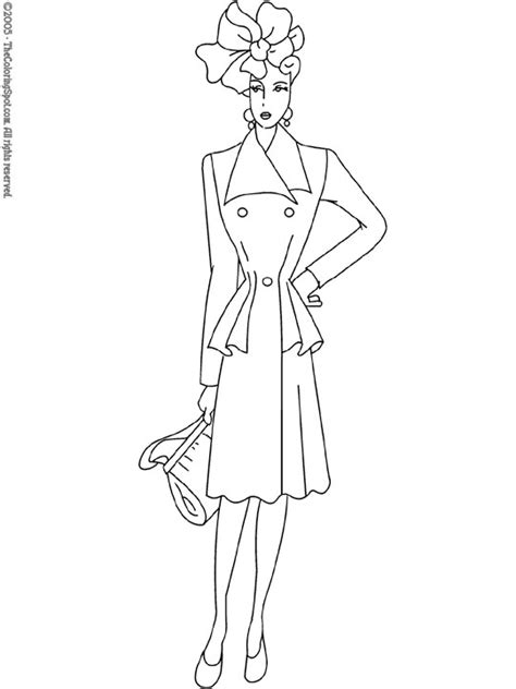 fashion model coloring pages