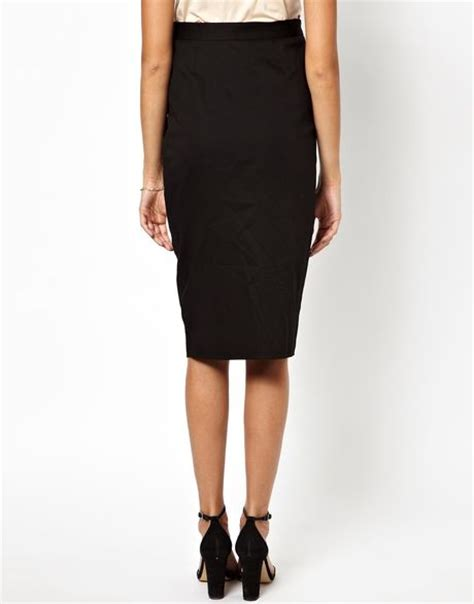 asos maternity column midi pencil skirt with front split