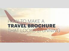 How to Make an Awesome Travel Brochure [With Free Templates] Kerala Tourism Brochure
