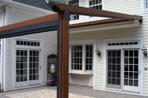 retractable pergola awnings private residence northern nj gennius retractable
