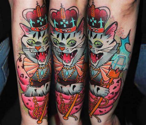 cat king tattoo king cat tattoo by lehel nyeste no 1032