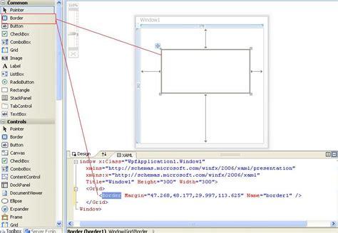 grid layout border wpf border control in wpf