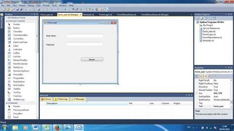membuat database vb net 2010 cermi membuat coding simpan database dengan vb 2010 unbaja