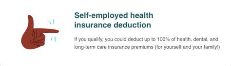 employed health insurance deduction