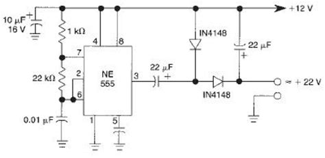 voltage doubler integrated circuit voltage doubler circuit using 555 timer