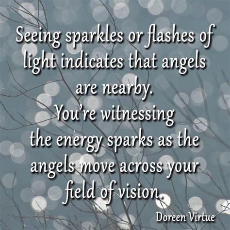 seeing flashes of light spiritual doreen virtue quotes quotesgram