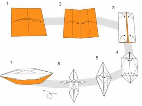 How Do U Make A Paper Boat - origami boat make origami easy