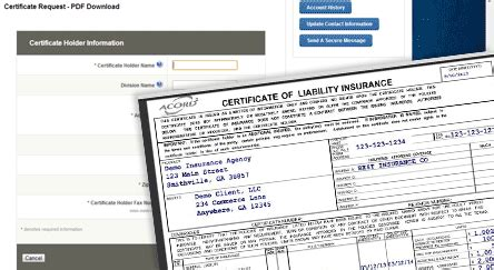 Self Service Certificates Of Insurance Tracking Certificate Of Insurance Tracking Template
