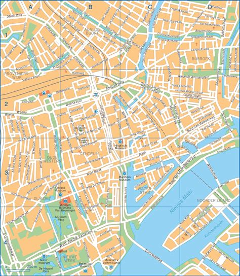 map of streets rotterdam map