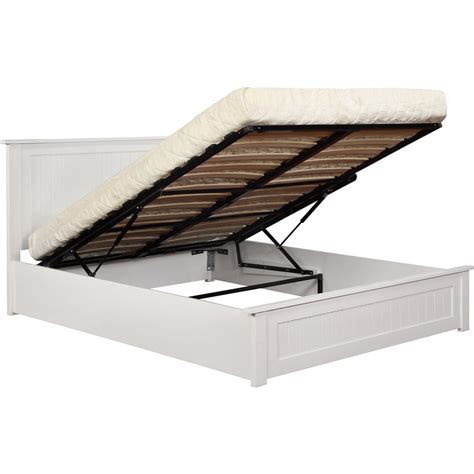 Gas Lift Bed Frame King Size Julieta King Size Oak Wood Gas Lift Bed Frame White Buy
