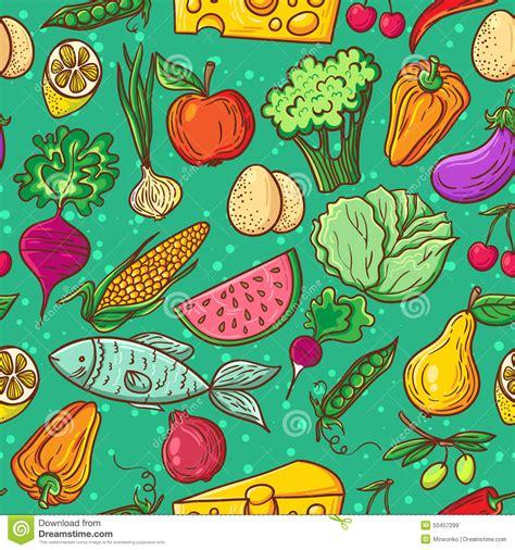 pattern illustrator food healthy food pattern stock vector image 50457299