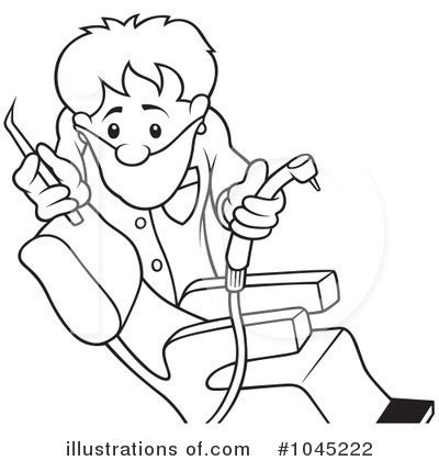 dental assisting coloring book dentist clipart 1045222 illustration by dero
